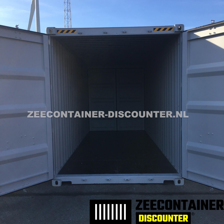 20ft High-Cube Dubbeldeurs Zeecontainer RAL7035